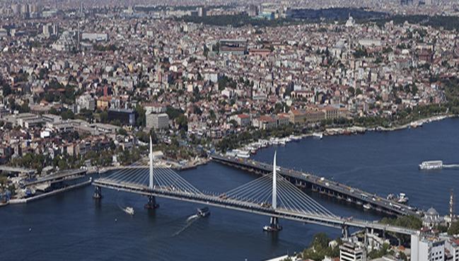 Le Pont Du Metro Sur la corne d'or