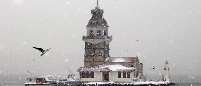 la tour de léandre en hiver