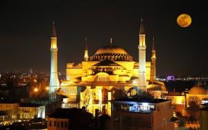 la Basilique Sainte Sophie le soir - istanbul by night