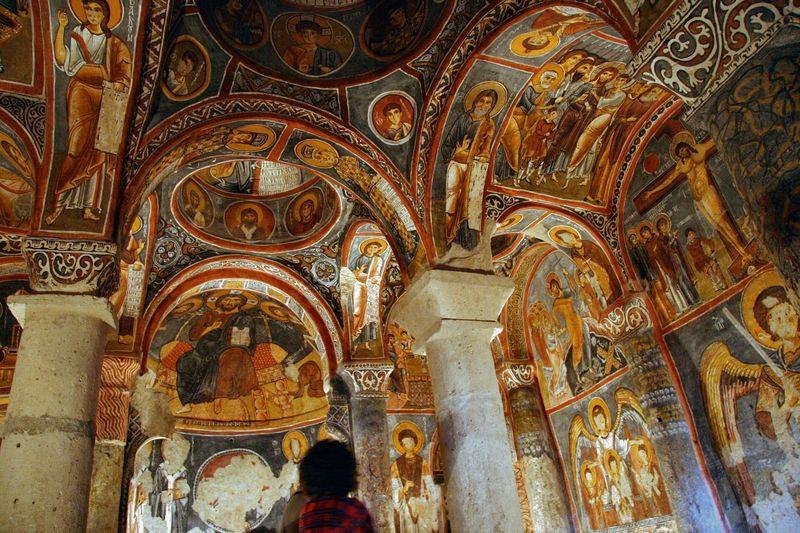 les églises rupestres de Cappadoce