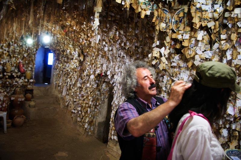 Chez galip à Avanos unique musée de cheuveux au monde.
