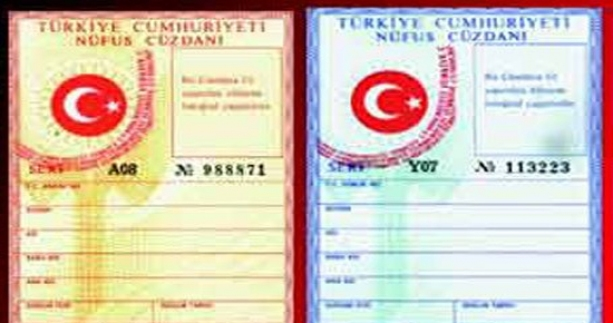 la Carte d'identité turque