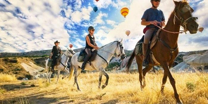 Randonnée à cheval en Cappadoce