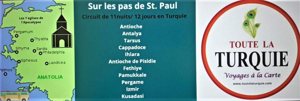 les sept églises d'apocalypse turquie - Sur les pas saint Paul