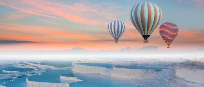 Le vol en montgolfière à Pamukkale
