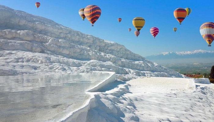 vol en montgolfière pamukkale