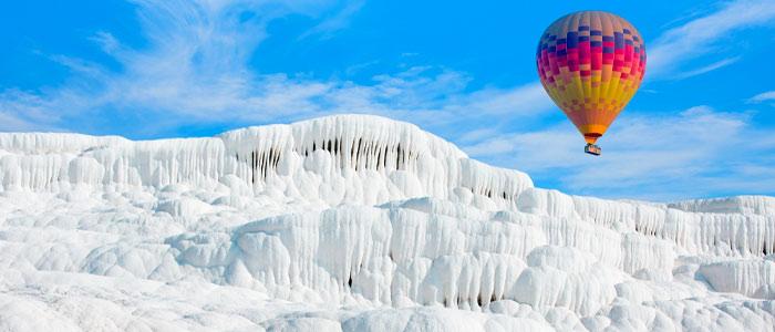 montgolfière à Pamukkale (château de coton)